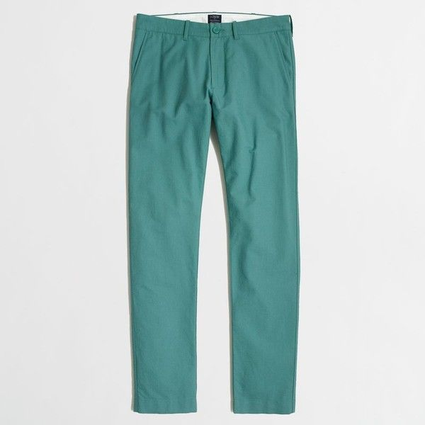 2aea30a0606ad J.Crew Factory Driggs oxford pant ($45) ❤ liked on Polyvore featuring men's  fashion, men's clothing, men's pants and men's casual pants