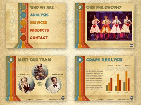 19 vintage powerpoint templates graphic design pinterest