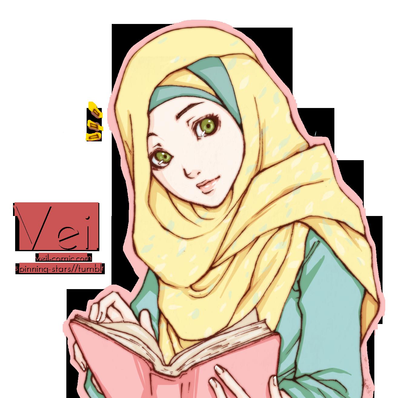 Gambar Kartun Muslimah Baca Quran Kantor Meme