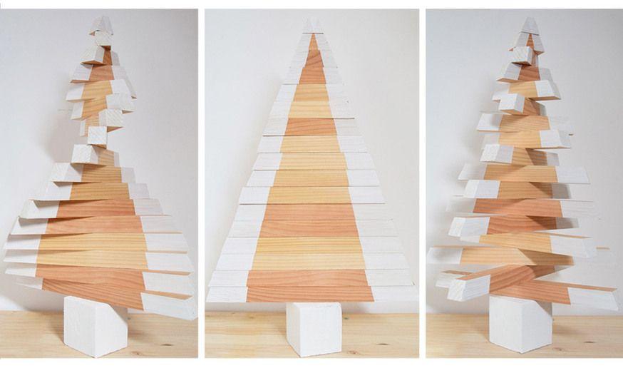diy un sapin de no l en bois d coration de noel colo. Black Bedroom Furniture Sets. Home Design Ideas