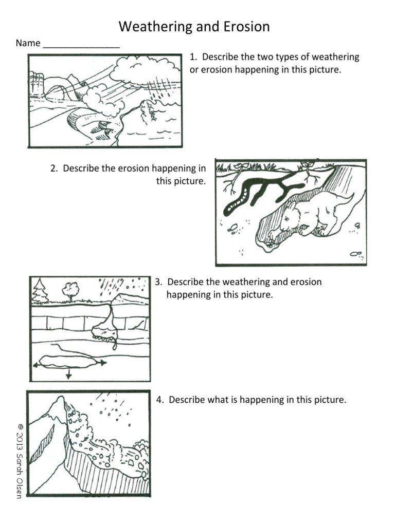 Weathering and Erosion Worksheet theweatheringanderosionofearthsurfacesquiz    Weathering and erosion [ 1024 x 768 Pixel ]