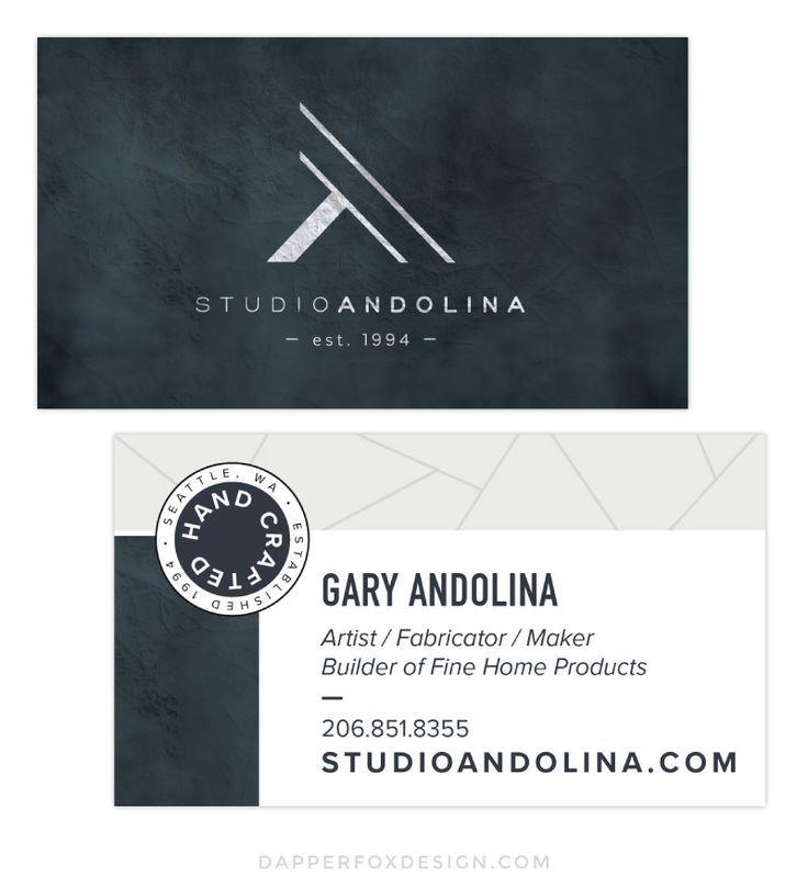 Studioandolina Branding Website Design Dapper Fox Design Branding Website Design Modern Business Cards Masculine Business Cards Business Card Design