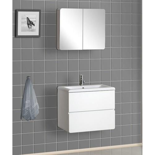 Awesome Bath Authority DreamLine Wall Mounted Modern Bathroom Vanity With Porcelain  Counter And Medicine Cabinet   White