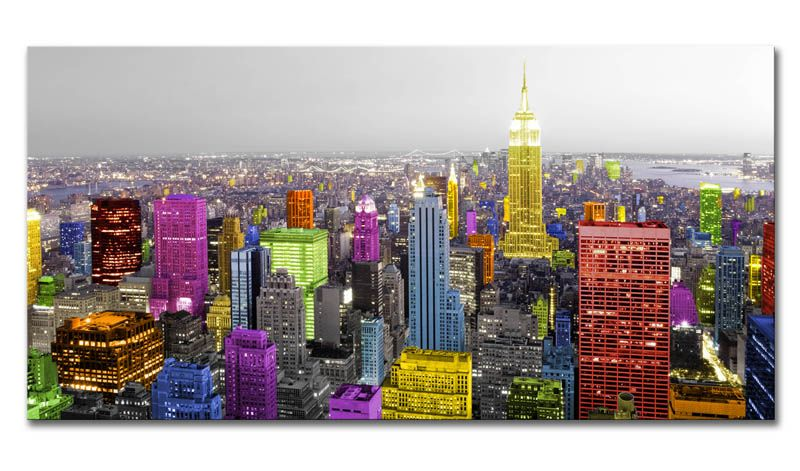 Cuadro New York Pr-cuadro New York - Colores 01 | Canvases