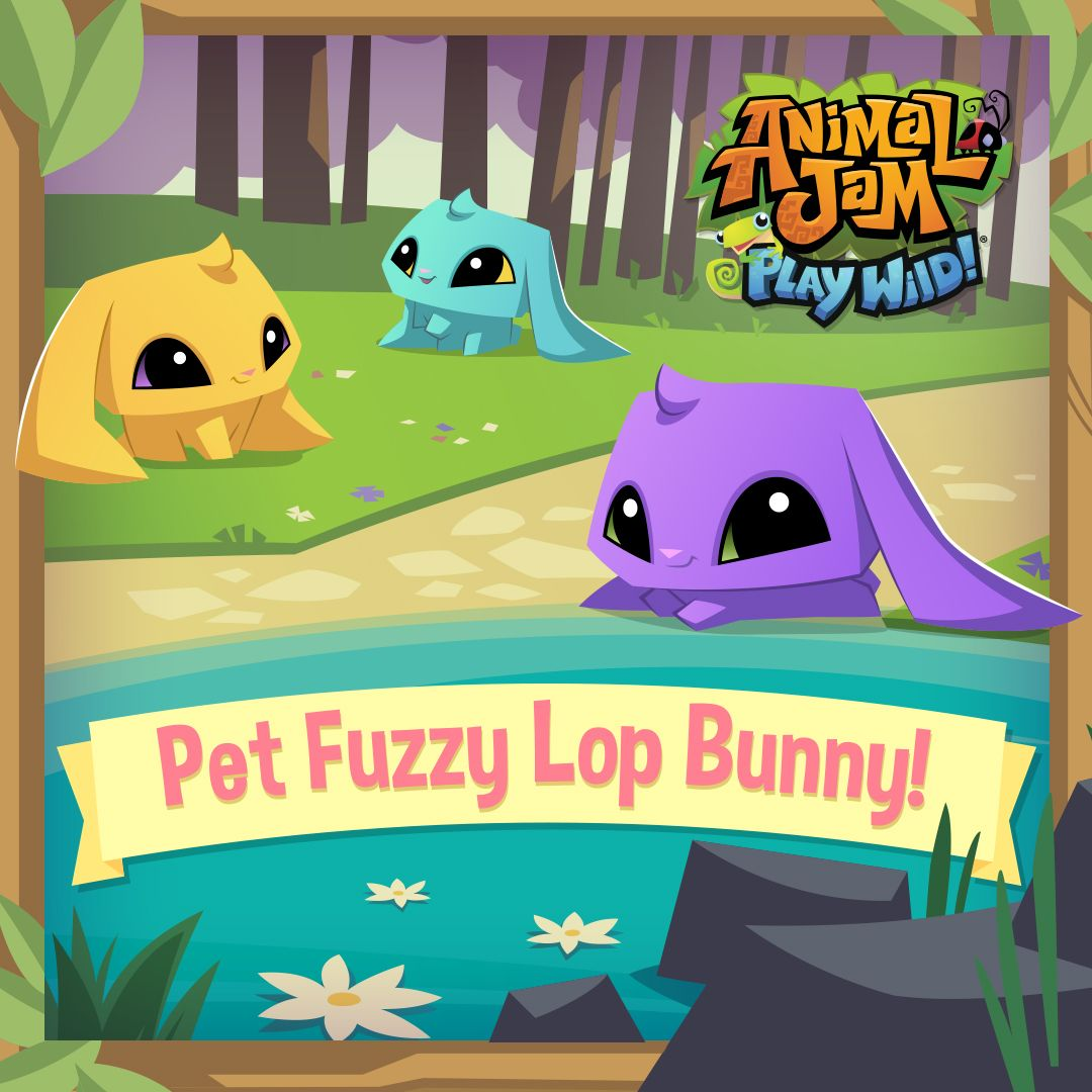 The Pet Fuzzy Lop Bunny Has Arrived In Animal Jam  Play Wild! This Cute