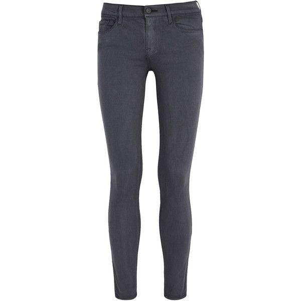 Le Maigre De Jeanne Détresse Des Jeans De Grande Hauteur - Cadre Gris Foncé Denim nGcjdIwk2