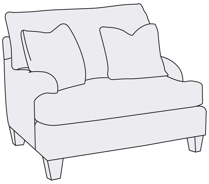 Bernhardt | Brooke Chair 1/2 (B6393)