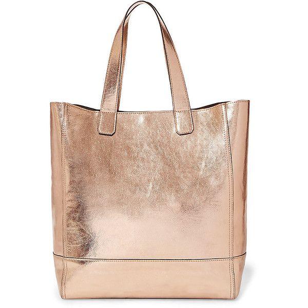 obvio Estrecho Restaurar  Steve Madden Bgame Handbag (2.510 UYU) ❤ liked on Polyvore featuring bags,  handbags, tote bags, rose gold, man t…   Gold handbags, Metallic tote bags,  Gold tote bag