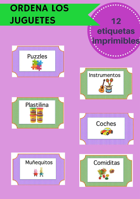 Etiquetas para organizar juguetes descarga inmediata pdf for Juego de organizar casa