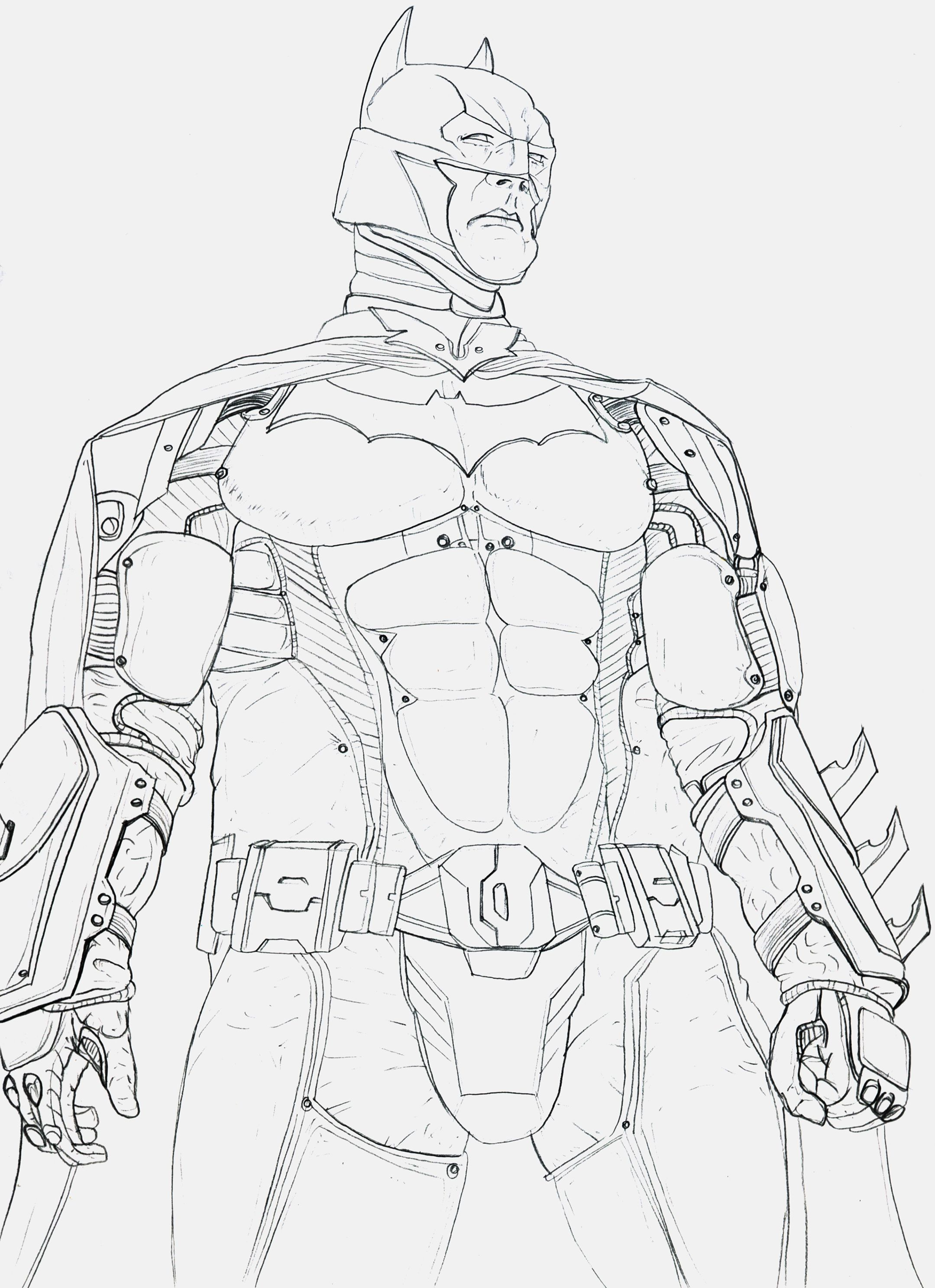 Batman Arkham Knight Sketches Drawings Sketch Coloring Page