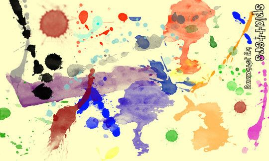 45 Free Watercolor Ink And Splatters Brushes For Photoshop