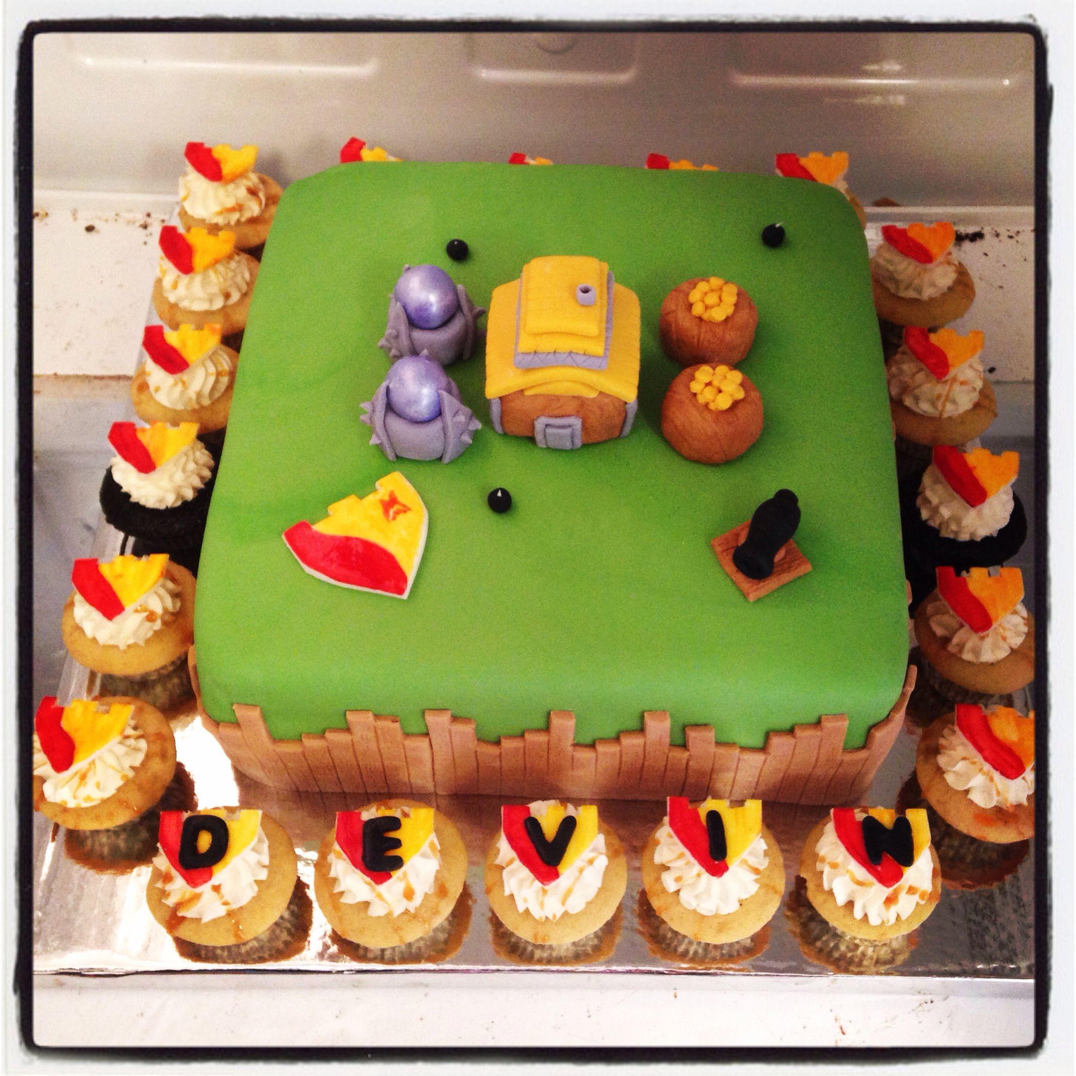 Clash of Clans cake HCG Recipes 4 P2 Pinterest Cake Hcg