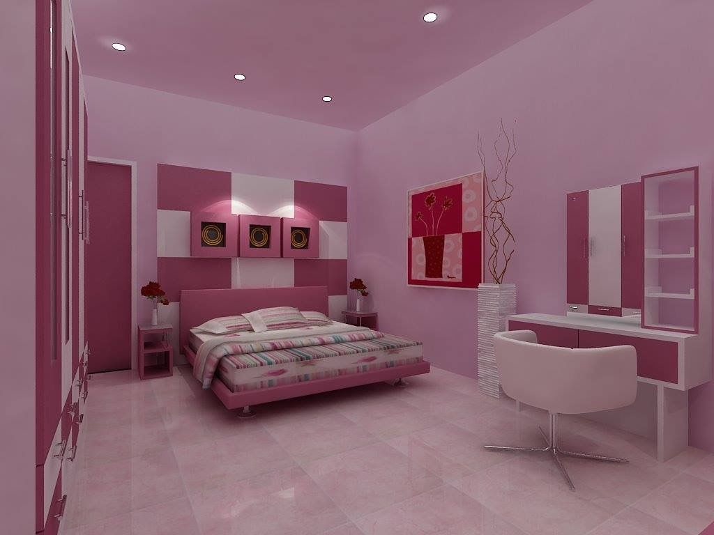 Cat Kamar Warna Ungu Dan Pink