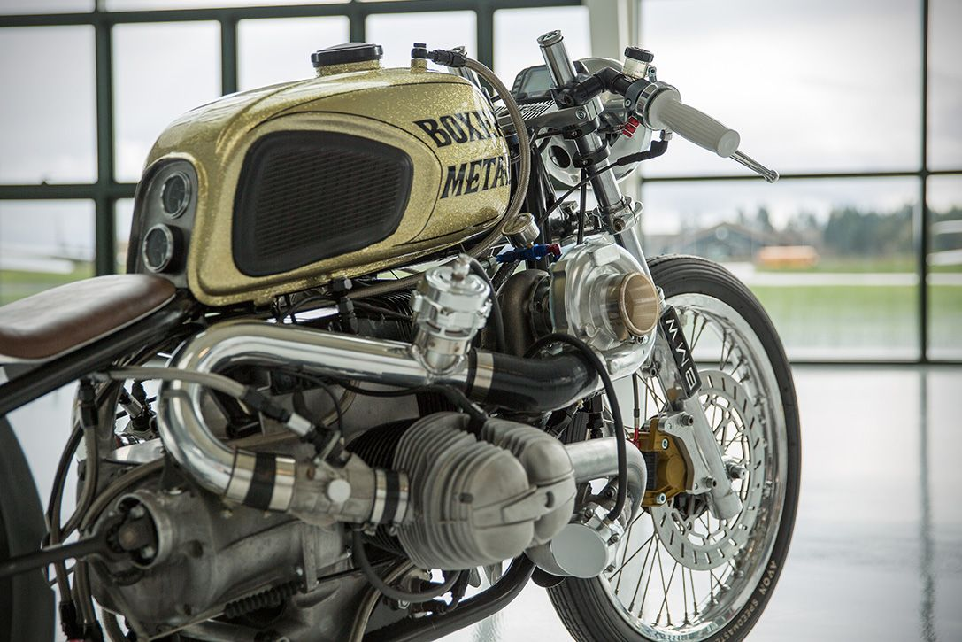 Boxer Metal S Twin Turbo Bmw R100 Is Downright Menacing With