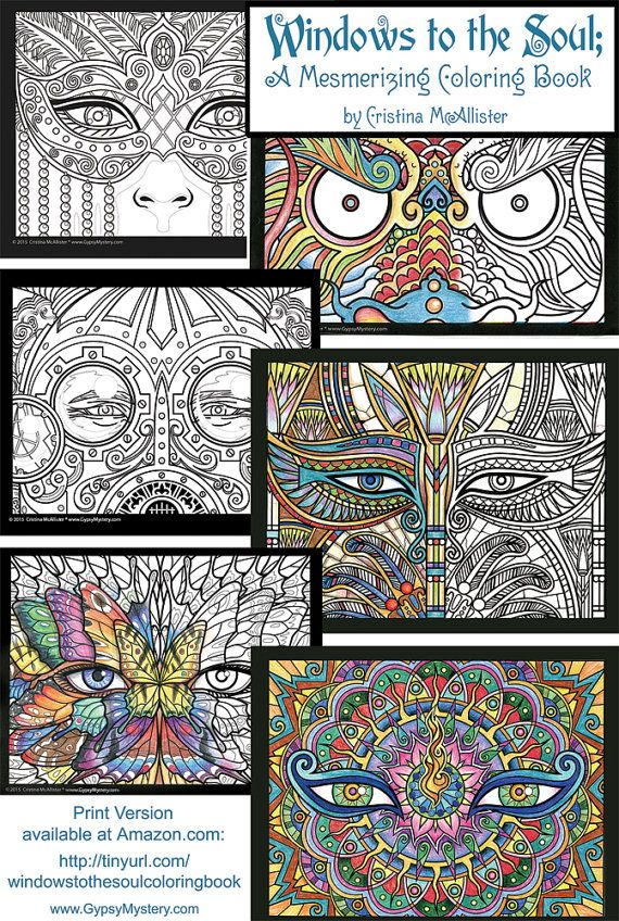 The Downloadable Digital Edition Of My Windows To Soul Coloring Book Is Now