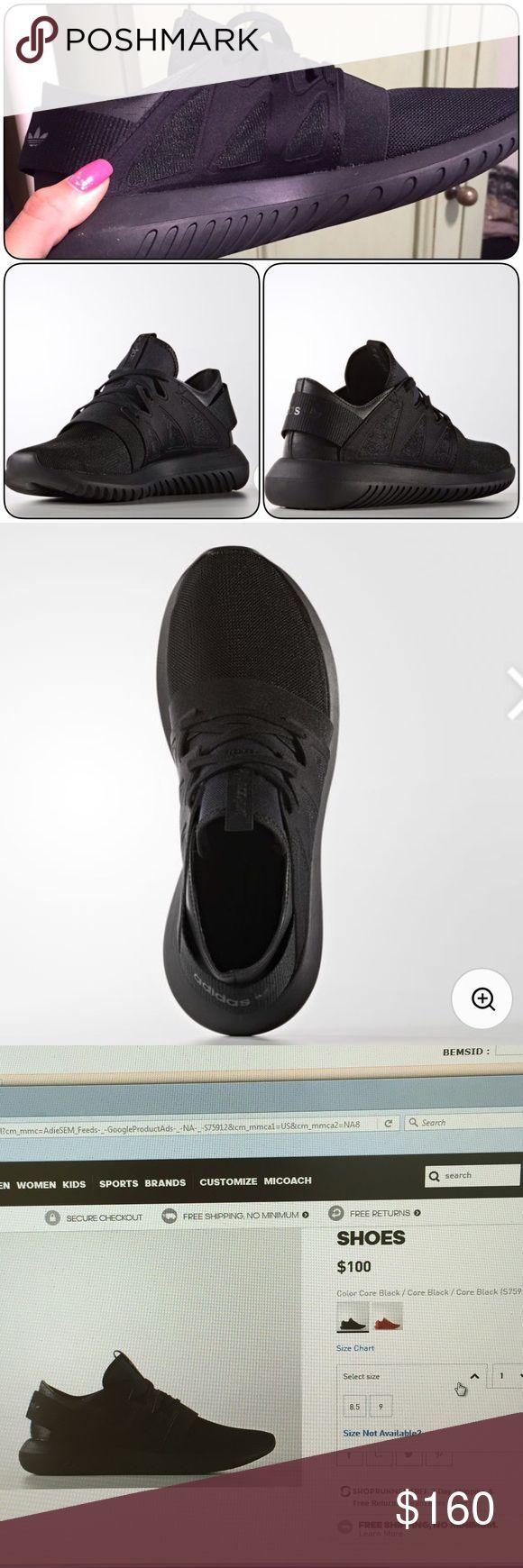 Adidas tubuläre virale Größe 7,5 Eine halbe Größe zu groß