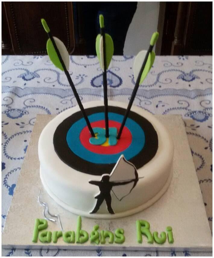 Archery Cake Bolo Tiro Com Arco Cake Design With Images Target