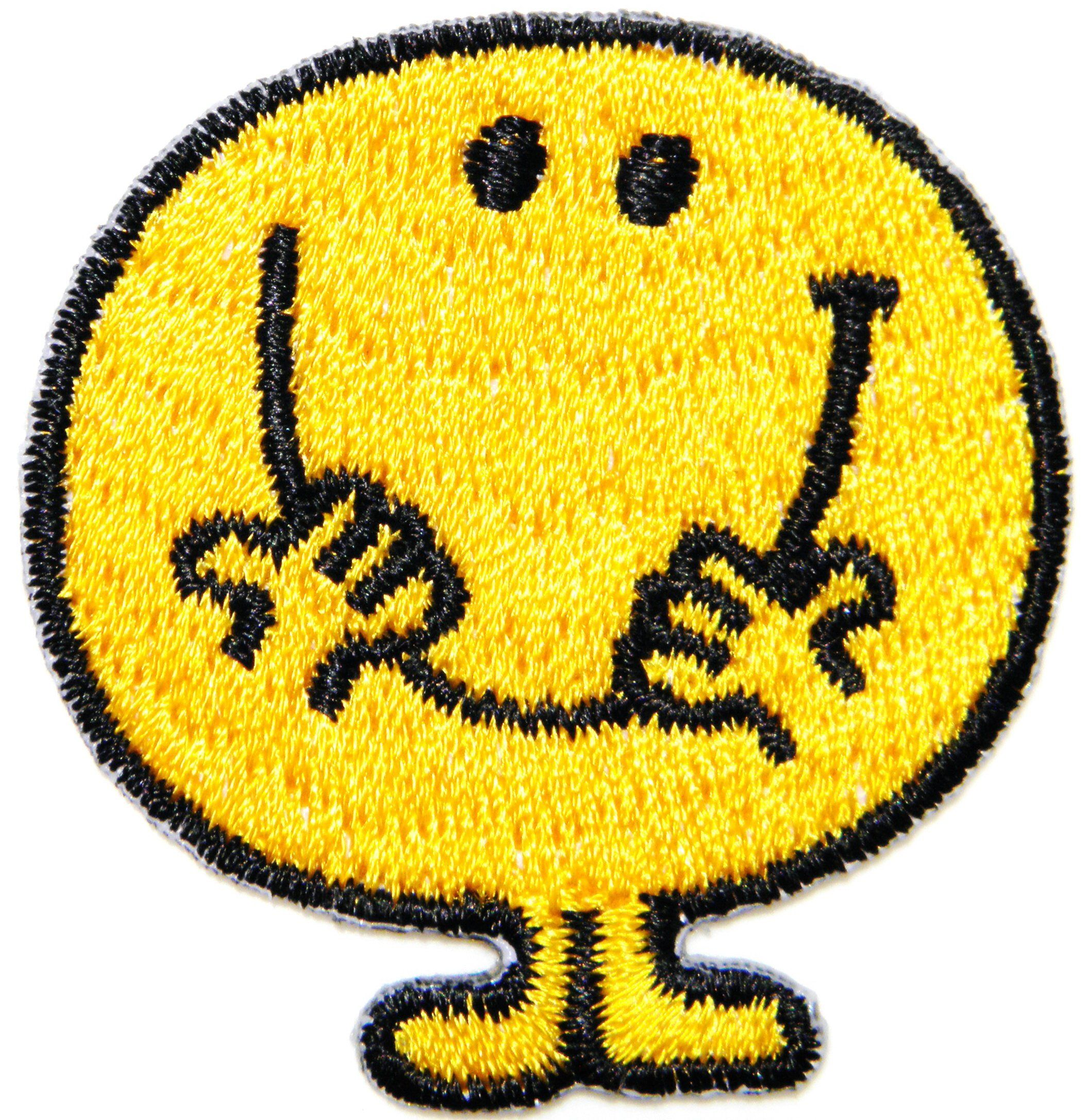 Iron on Patch Little Miss Mr Men 6cm x 6cm Sew Applique Embroidered Cartoon