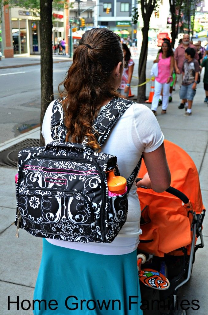 Mom Carrying A Jujube Bff Diaper Bag Backpack Best