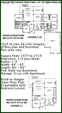 Adaptable, Expandable Floor Plan For Building In Phases.