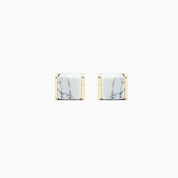 Marble Cube Studs