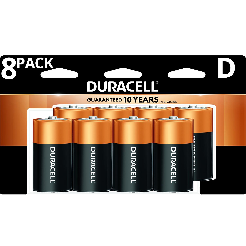 Duracell Coppertop D Battery Long Lasting D Batteries 8 Pack Walmart Com Duracell Alkaline Battery Duracell Batteries