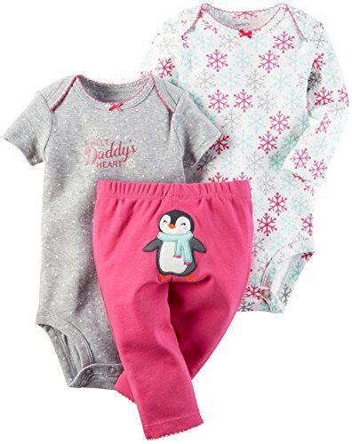 ac7221812 Carter's Baby Girls Take Me Away 3-Piece Little Character Set -24M -Pink  Penguin