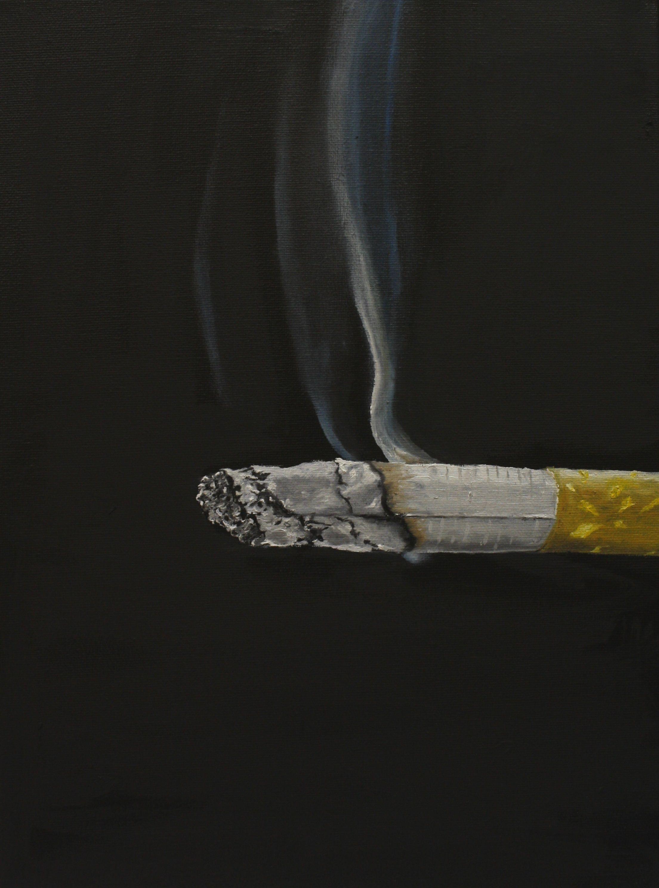 zigarette ol und acryl auf leinwand 30x40 cm etsy tie clip art accessories bild groß foto als