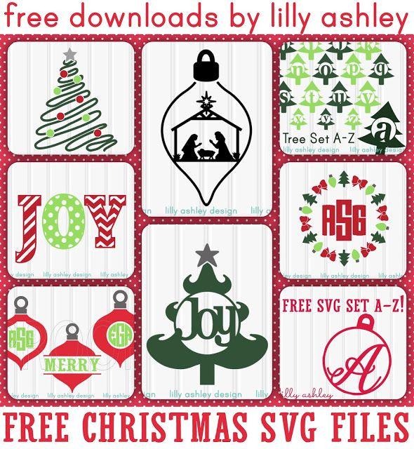 Download Free Christmas SVG Files | Silhouette freebies | Christmas ...
