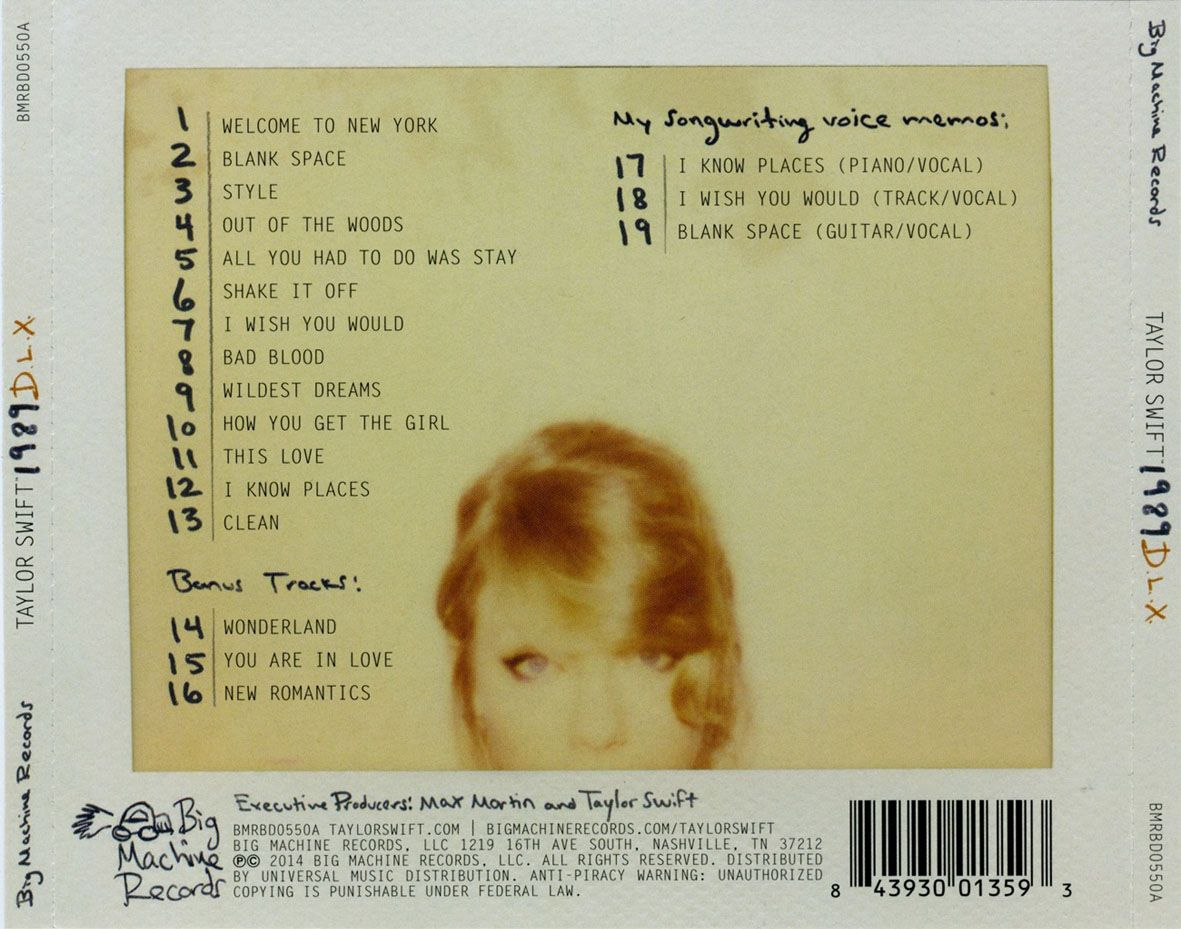 Taylor Swift 1989 Full Songs List Daedalusdrones Com