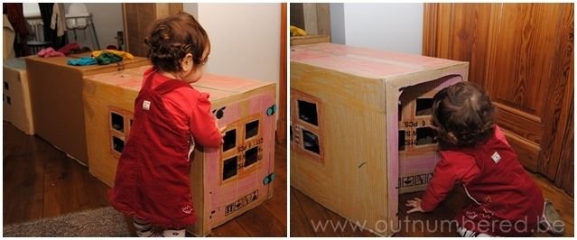 Make a fun tunnel for kids out of cardboard boxes for Things to make out of cardboard for kids
