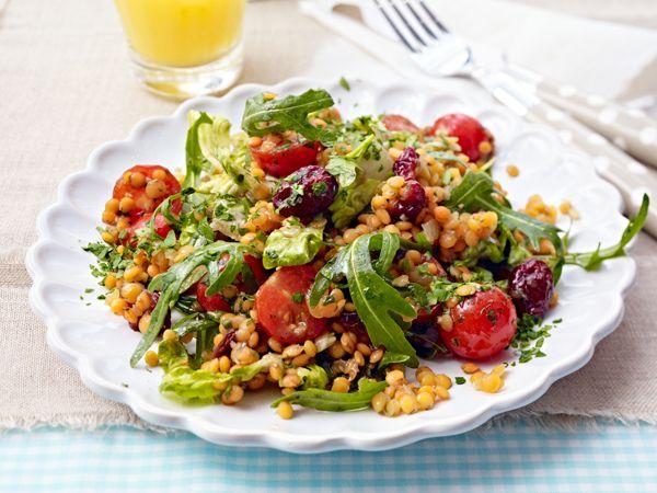 abendbrot vielseitig und lecker belegt rote linsen salat rote linsen und salat rezepte. Black Bedroom Furniture Sets. Home Design Ideas