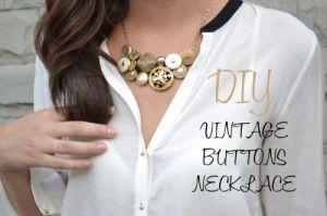 Como hacer un collar con botones de metal