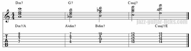 Ii V I Jazz Guitar Chords Msica Pinterest Guitar Chords Jazz
