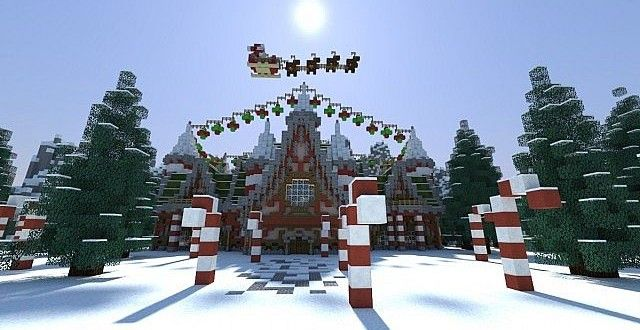 Minecraft Christmas Houses.Pin On Minecraft Builds