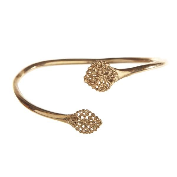Gold-filigree cuff, adjustable & also available in sterling silver by Alicia Marilyn Designs.