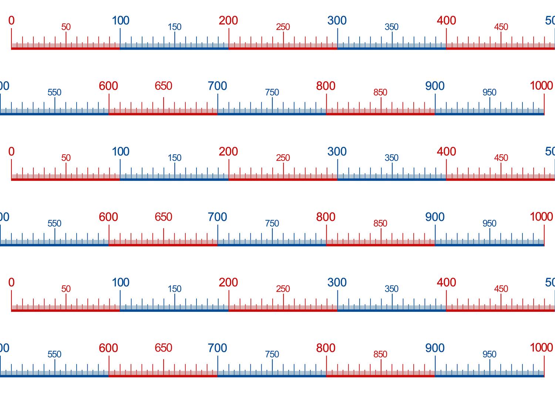 Zahlenstrahl Bis 1000 Unterrichtsmaterial