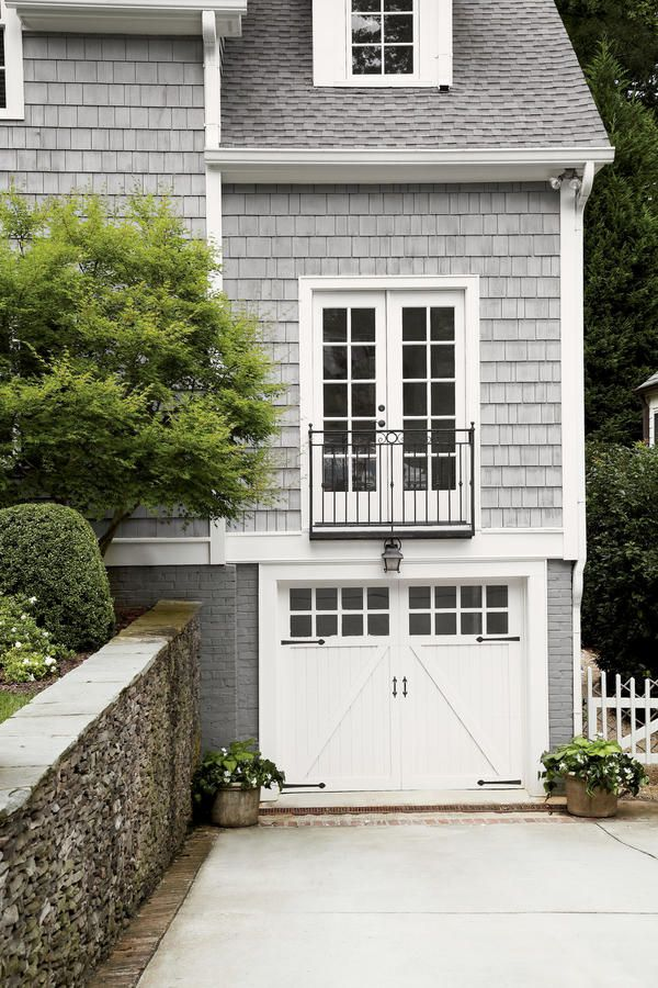 Pour On The Cottage Charm Carriage Style Garage Doors French Doors Exterior Garage Door Design