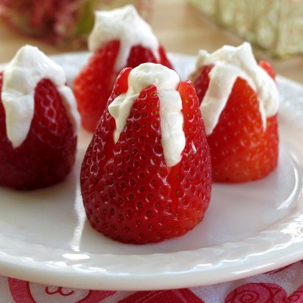 recipe: cheesecake stuffed strawberries pinterest [23]