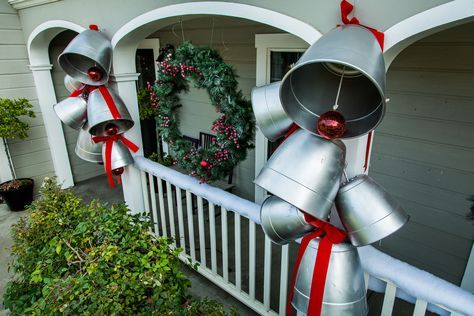 Show off your christmas spirit with kennethwingards diy giant show off your christmas spirit with kennethwingards diy giant holiday bells for the front of solutioingenieria Image collections