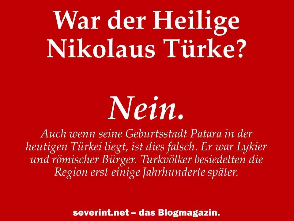 War Nikolaus Ein Türke