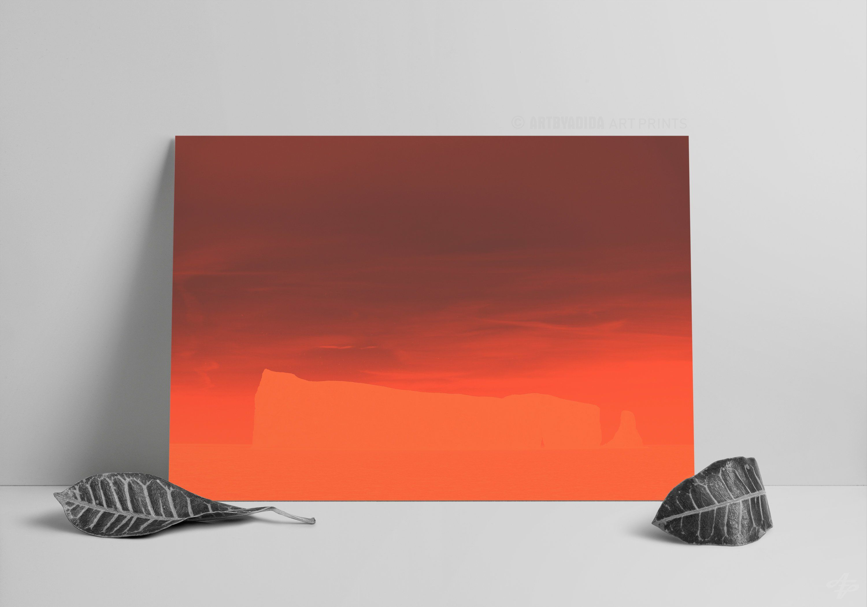 Red Rock Abstract Nature Printable Art / Fantasy landscape