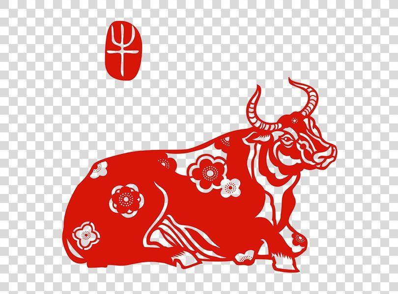Chinese Zodiac Animals Papercutting Ox Chinese New Year