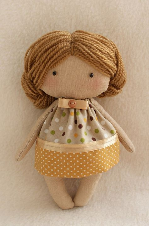 DIY Kit Rag Doll to sew Easy to do Olie Primitive doll pattern and ...
