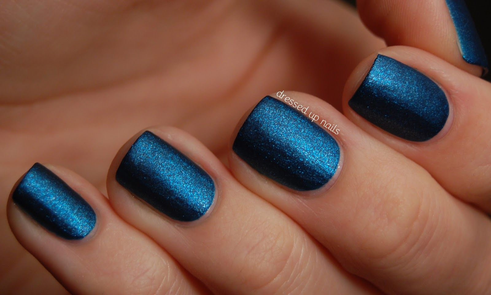 Metallic matte cobalt blue nails perfect for a night out. MYX it up ...