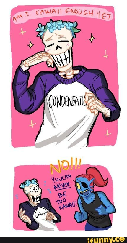 why does his shirt say condensation?!?! Papyrus being kawaii <3 :3 ...