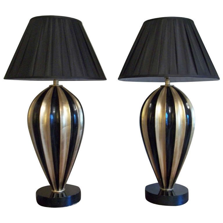PAIR of Superb TABLE LAMPS, Art Deco Style from Early/Mid 20th Century | From a unique collection of antique and modern table lamps at http://www.1stdibs.com/furniture/lighting/table-lamps/