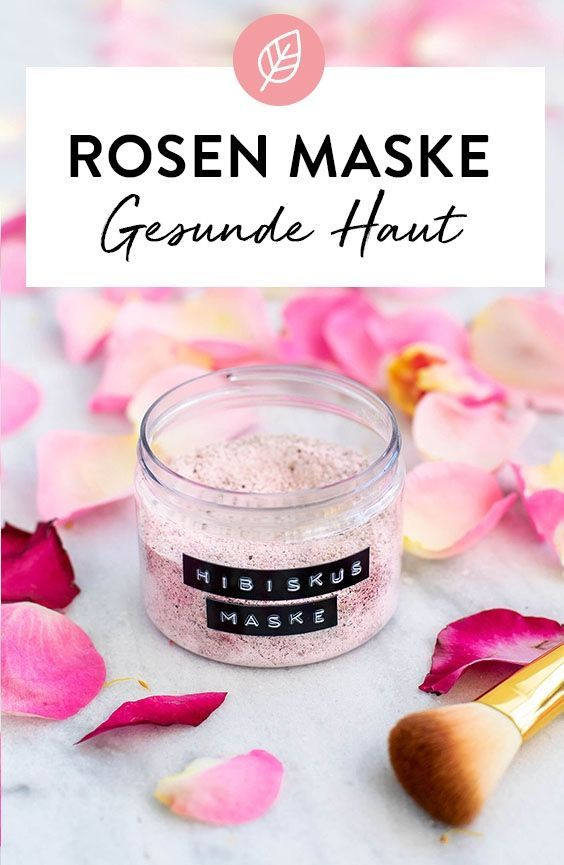 Photo of Face mask with rose water and hibiscus flowers. DIY recipe …