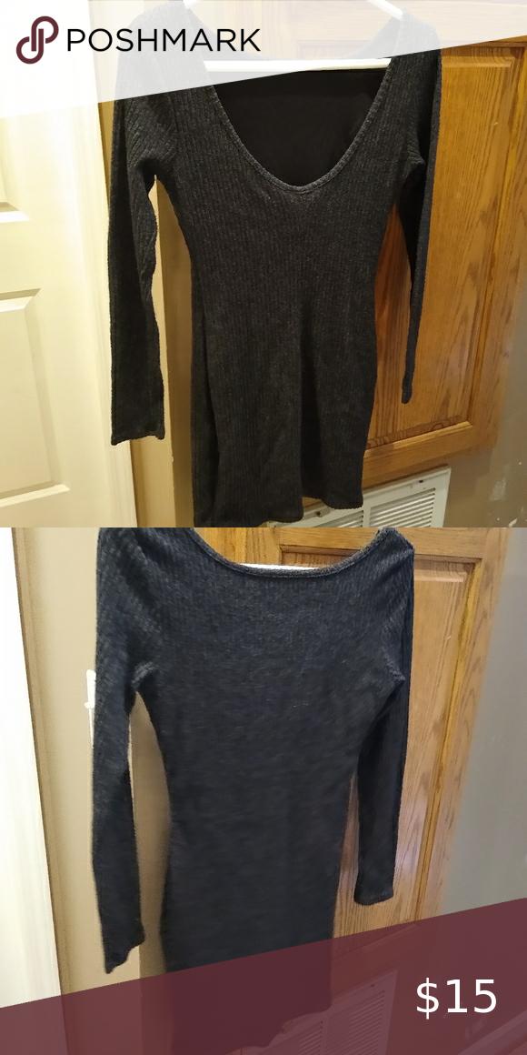Grey sweater dress Charlotte Reusse Never worn! Charlotte Russe Dresses Mini