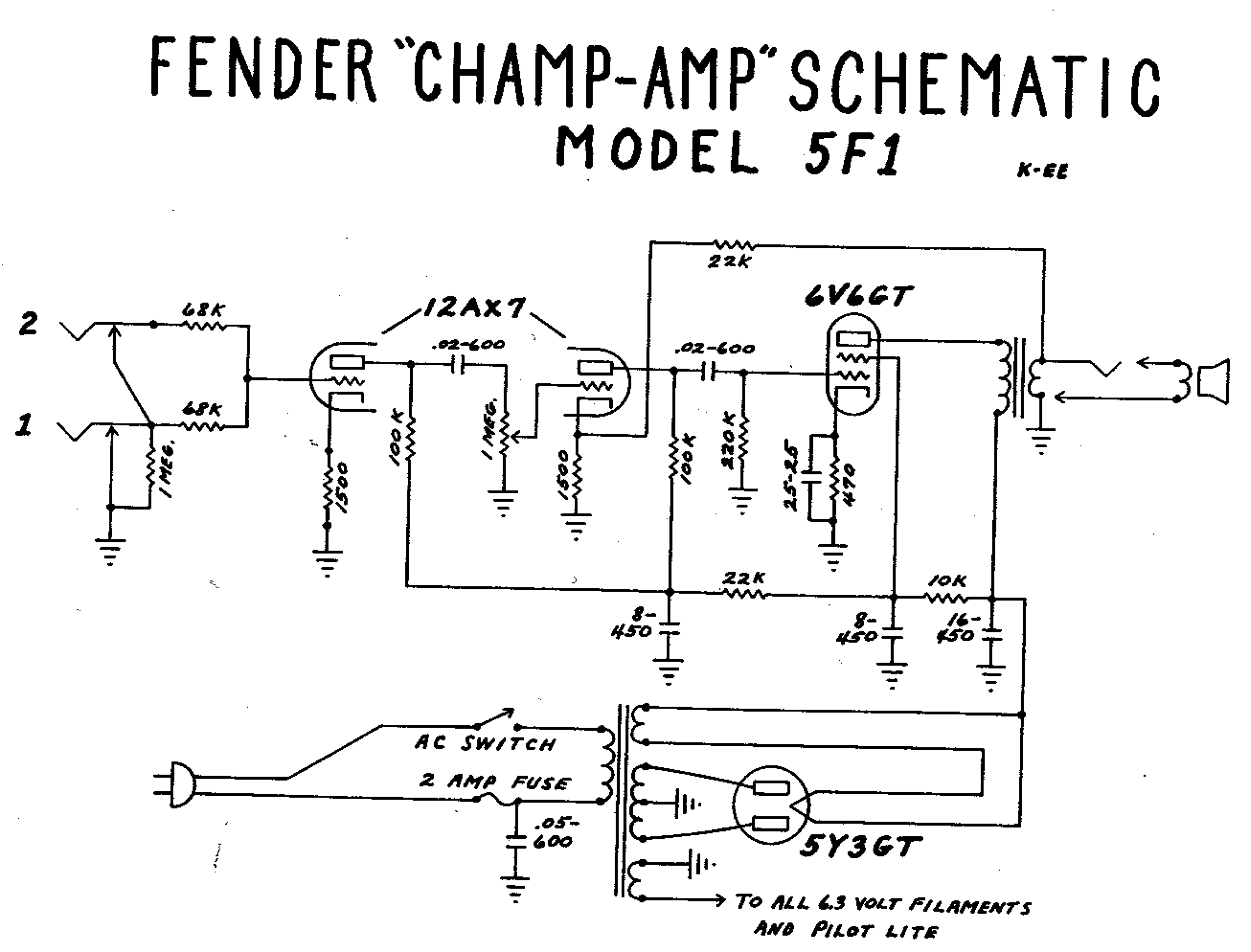 Fender Amp Wiring Diagrams - Electrical Schematic Wiring Diagram on